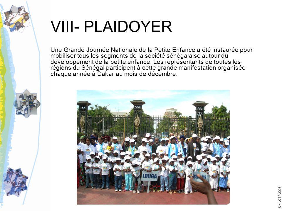 VIII- PLAIDOYER