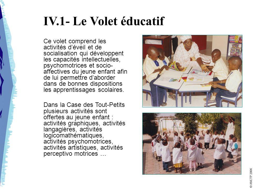 IV.1- Le Volet éducatif