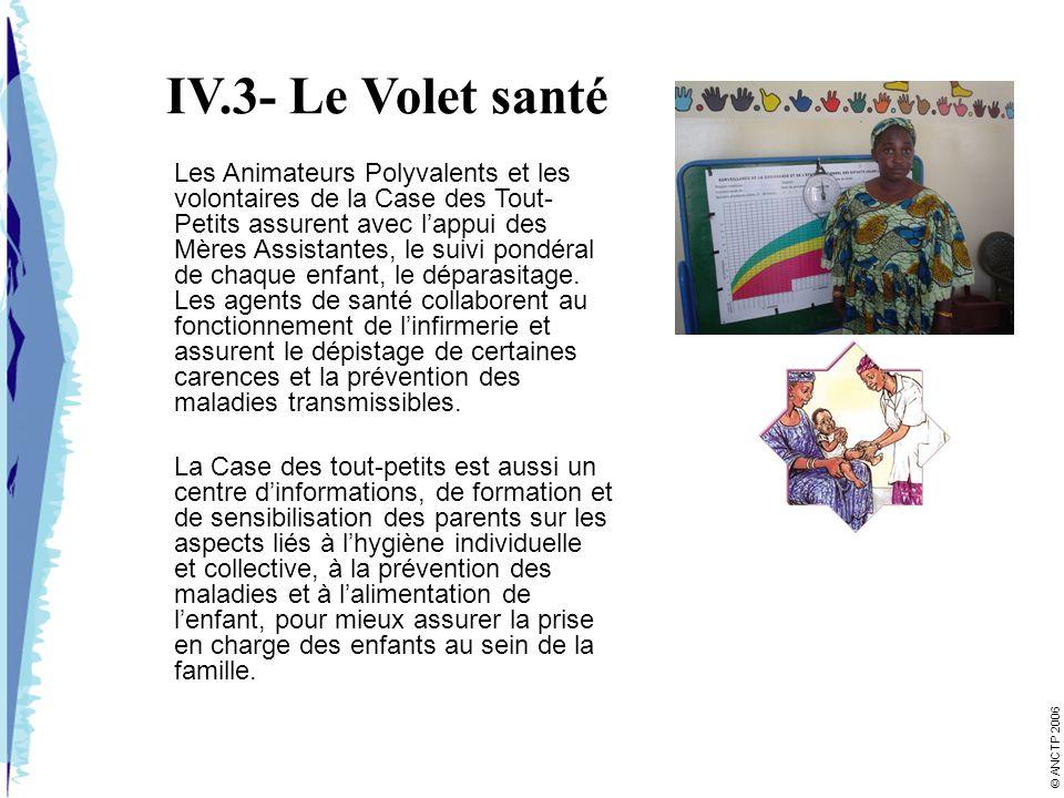 IV.3- Le Volet santé