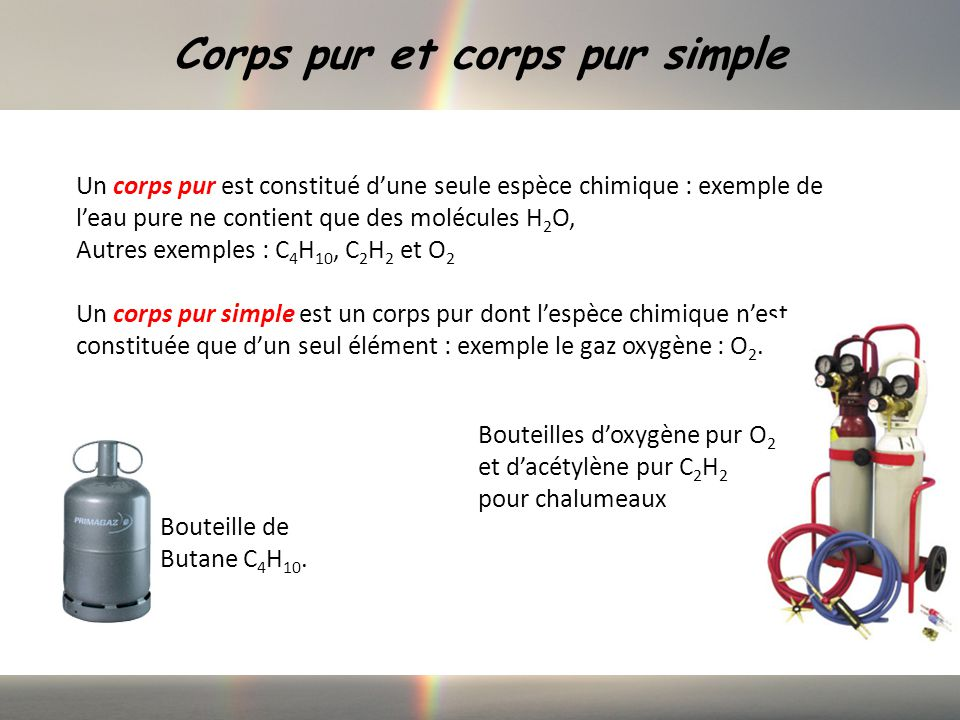Corps pur et corps pur simple
