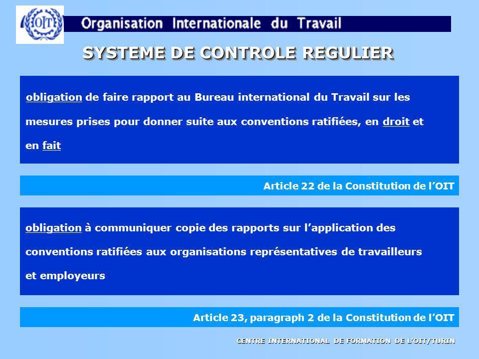 SYSTEME DE CONTROLE REGULIER