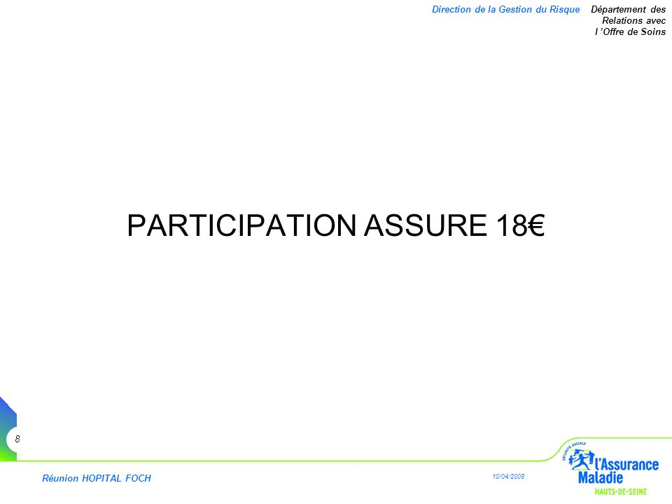 PARTICIPATION ASSURE 18€