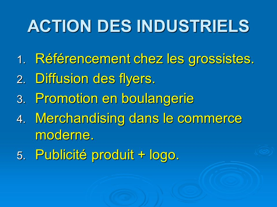 ACTION DES INDUSTRIELS