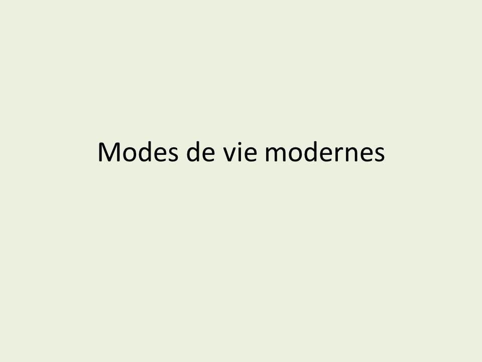 Modes de vie modernes