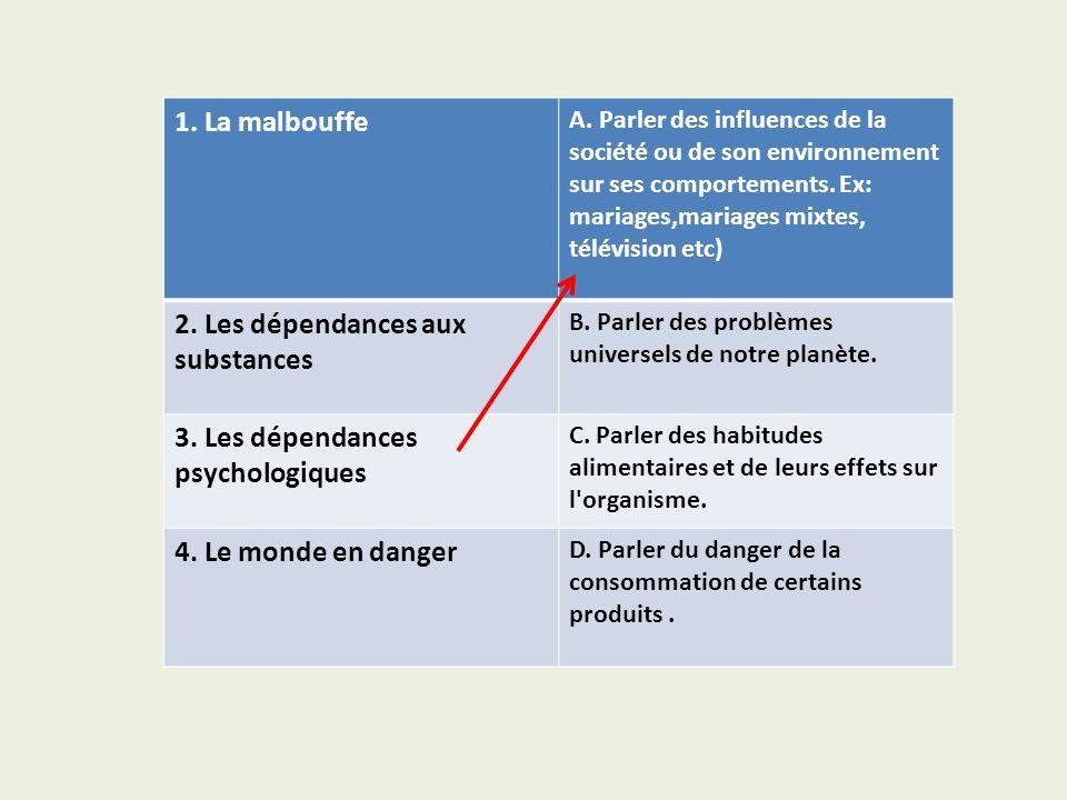 2. Les dépendances aux substances
