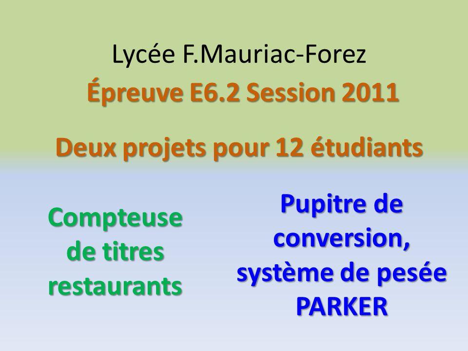 Deux projets pour 12 étudiants