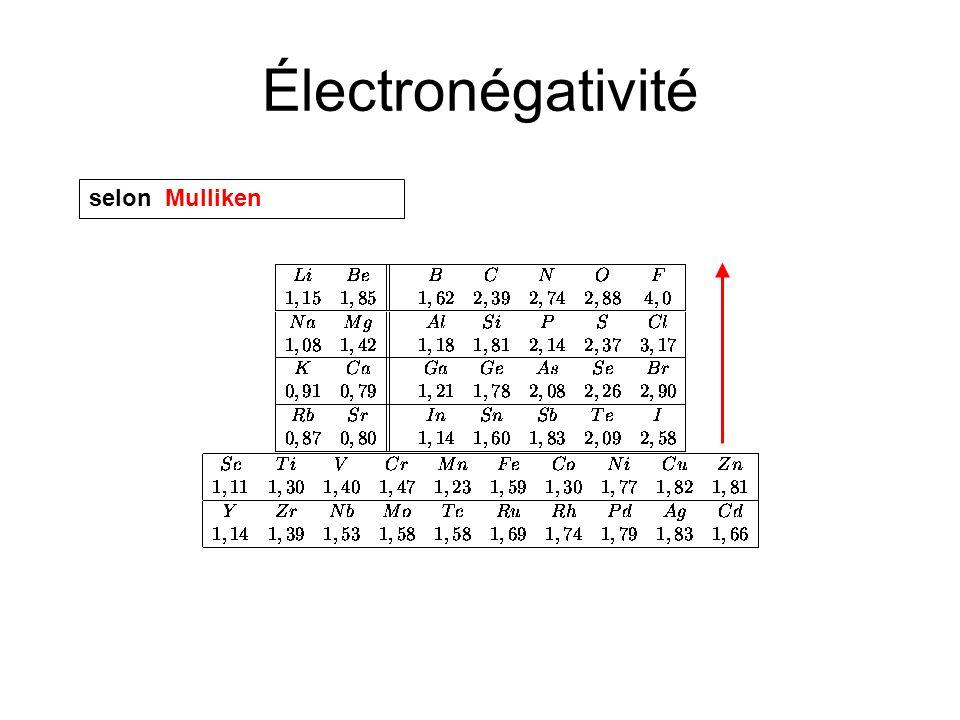 Électronégativité selon Mulliken