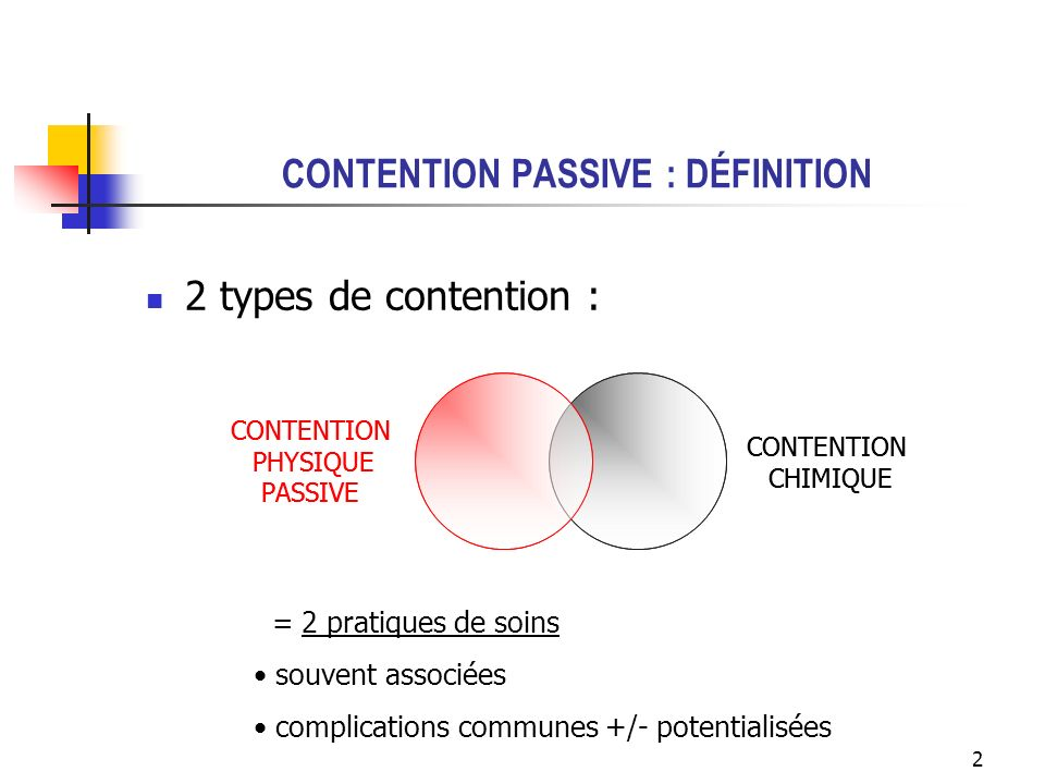 CONTENTION PASSIVE : DÉFINITION