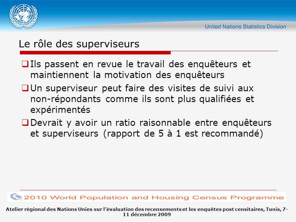 Le rôle des superviseurs