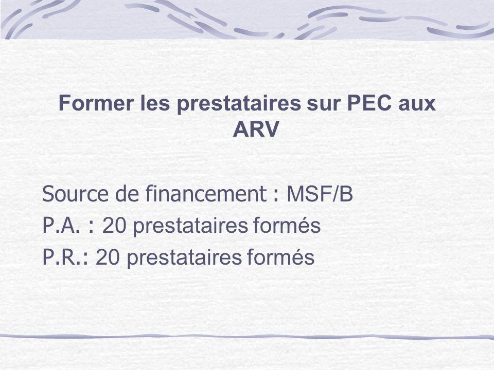 Former les prestataires sur PEC aux ARV