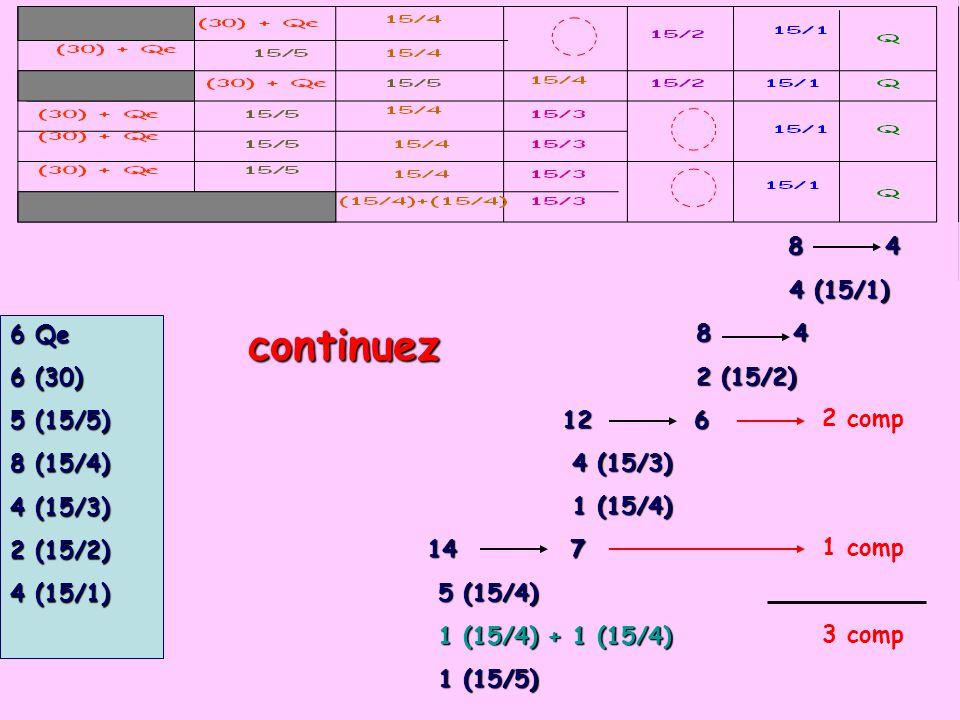 continuez 8 4 4 (15/1) 2 (15/2) 12 6 6 Qe 4 (15/3) 6 (30) 1 (15/4)