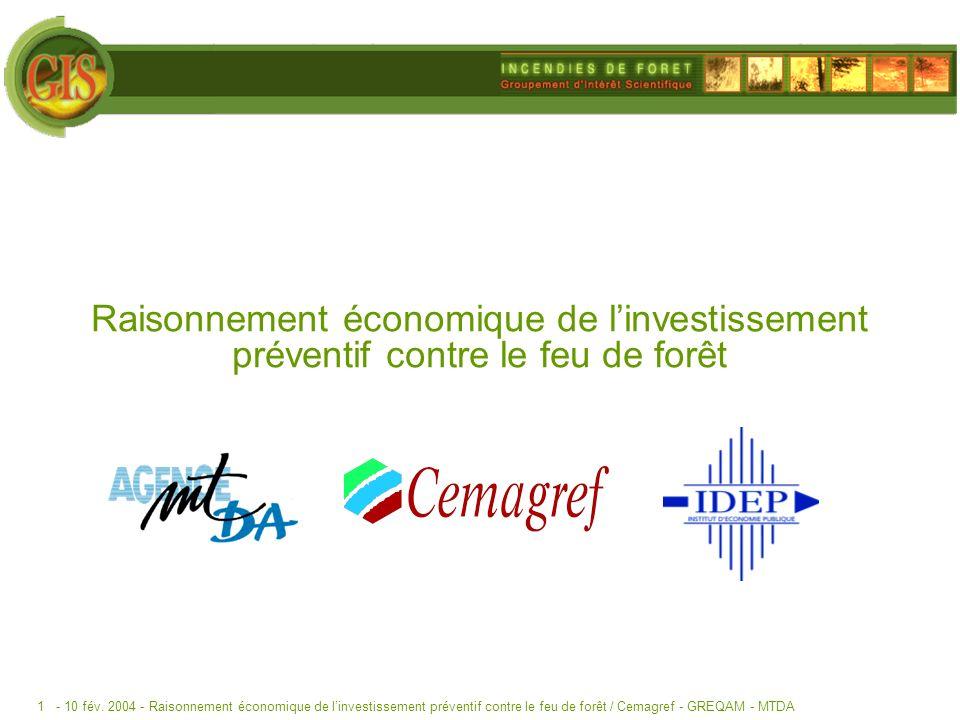 Raisonnement économique de l'investissement préventif contre le feu de forêt