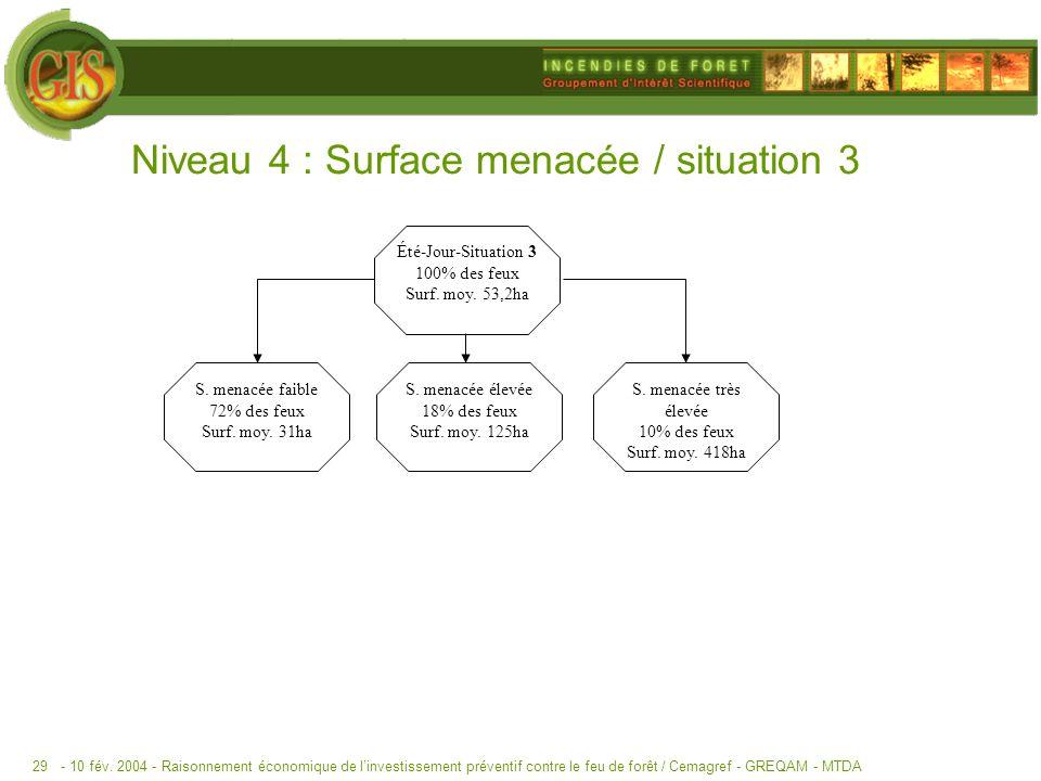 Niveau 4 : Surface menacée / situation 3