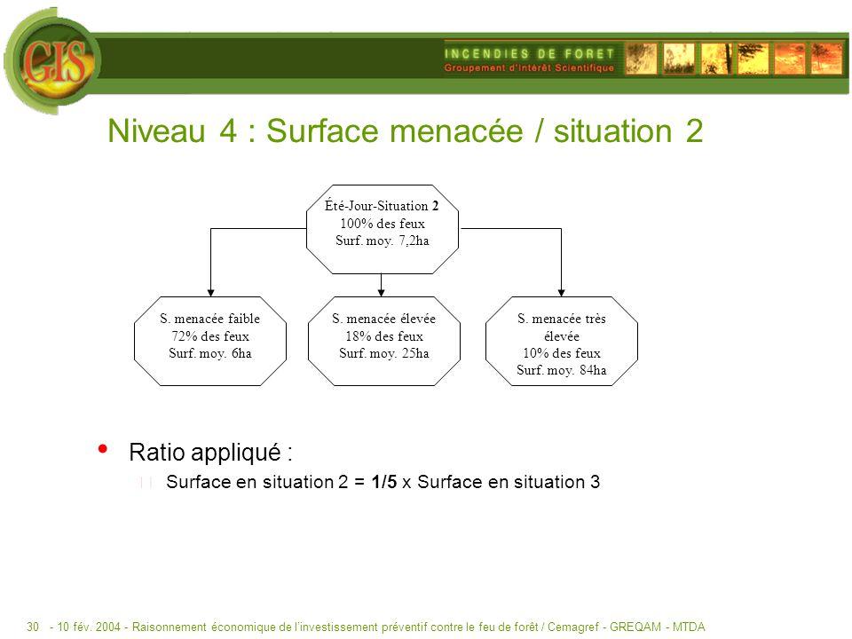 Niveau 4 : Surface menacée / situation 2