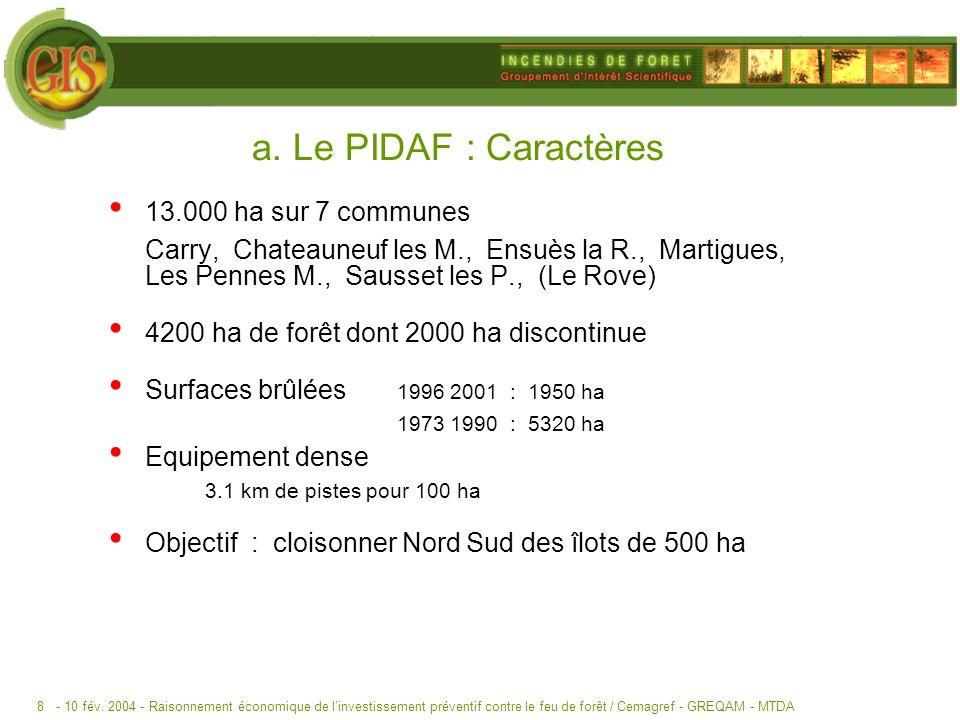 a. Le PIDAF : Caractères 13.000 ha sur 7 communes