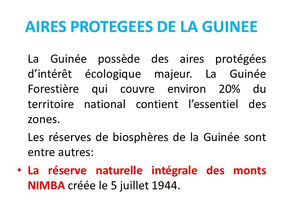 AIRES PROTEGEES DE LA GUINEE