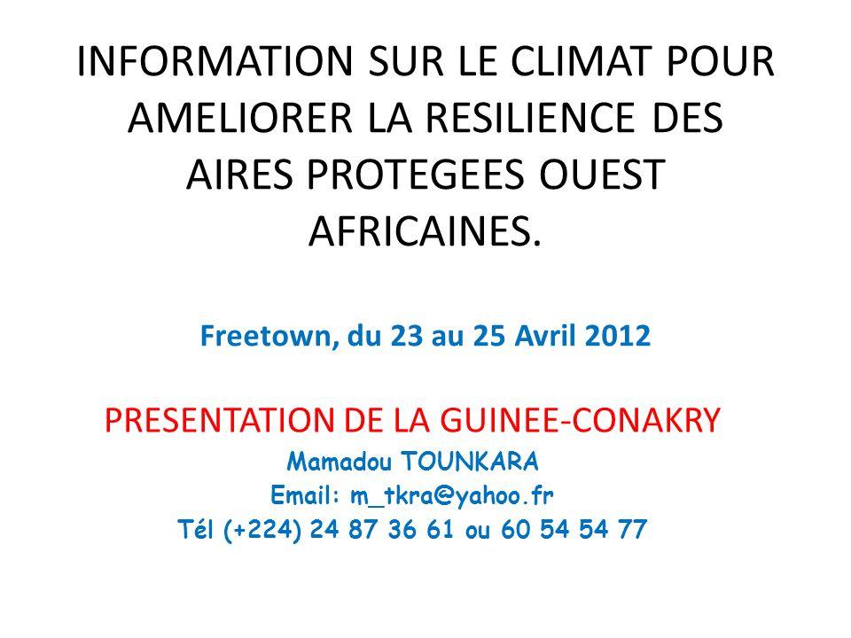 PRESENTATION DE LA GUINEE-CONAKRY
