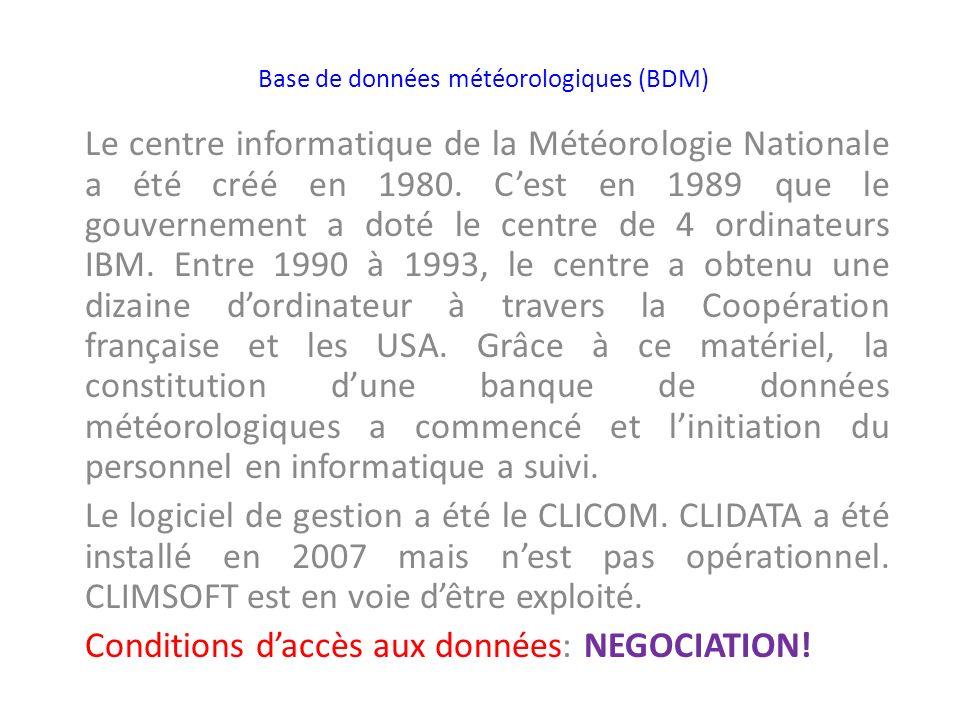 Base de données météorologiques (BDM)