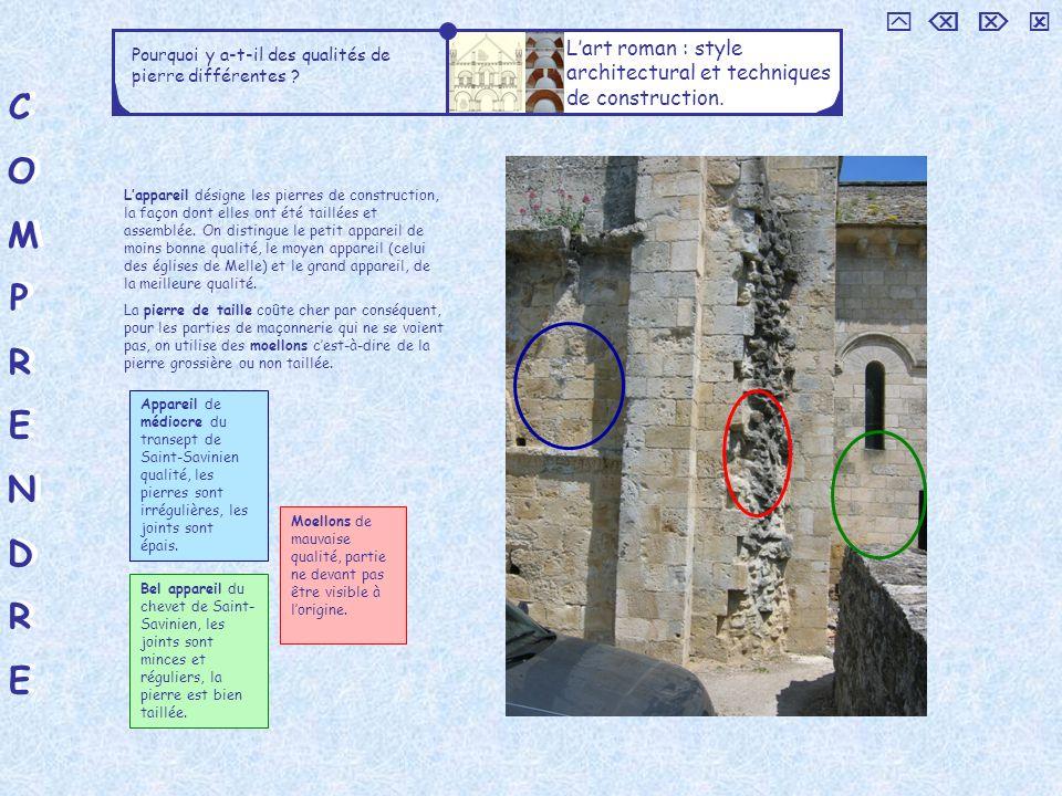     L'art roman : style architectural et techniques de construction. Pourquoi y a-t-il des qualités de pierre différentes