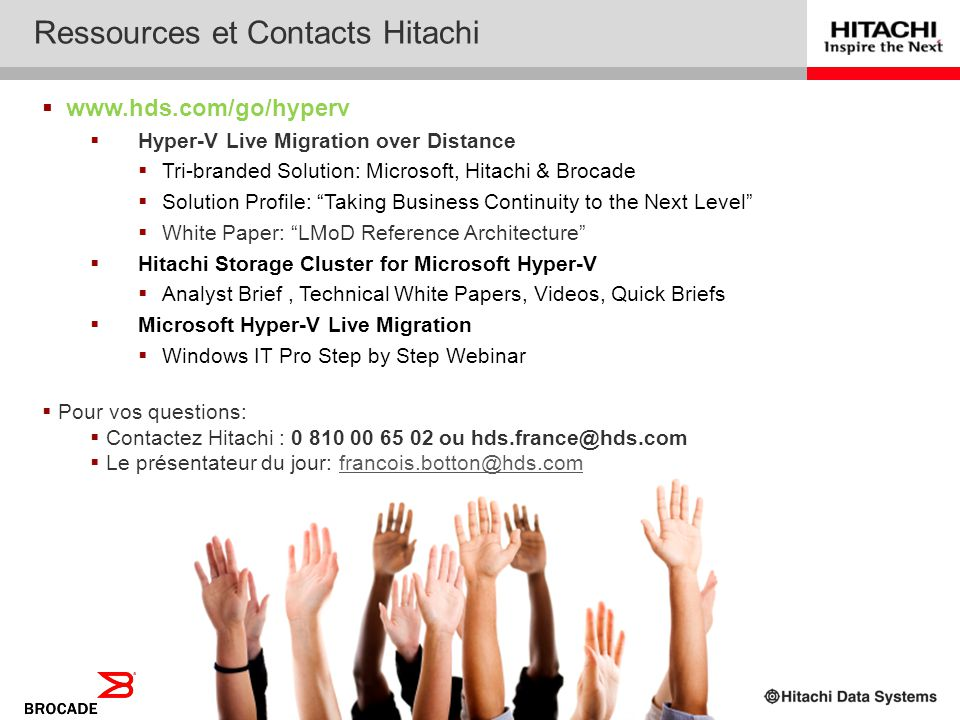 Ressources et Contacts Hitachi