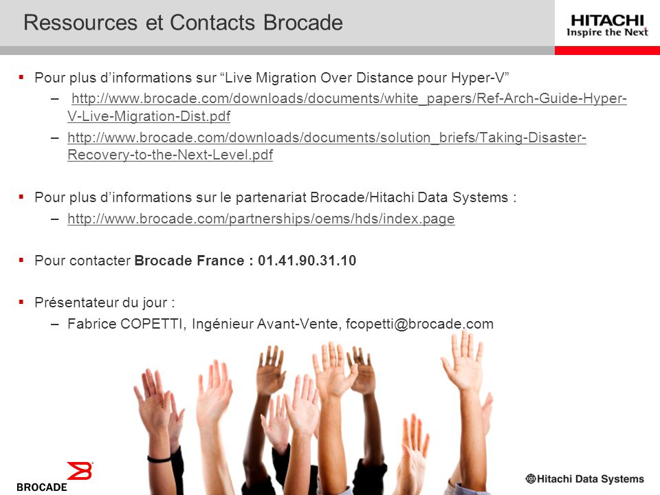 Ressources et Contacts Brocade