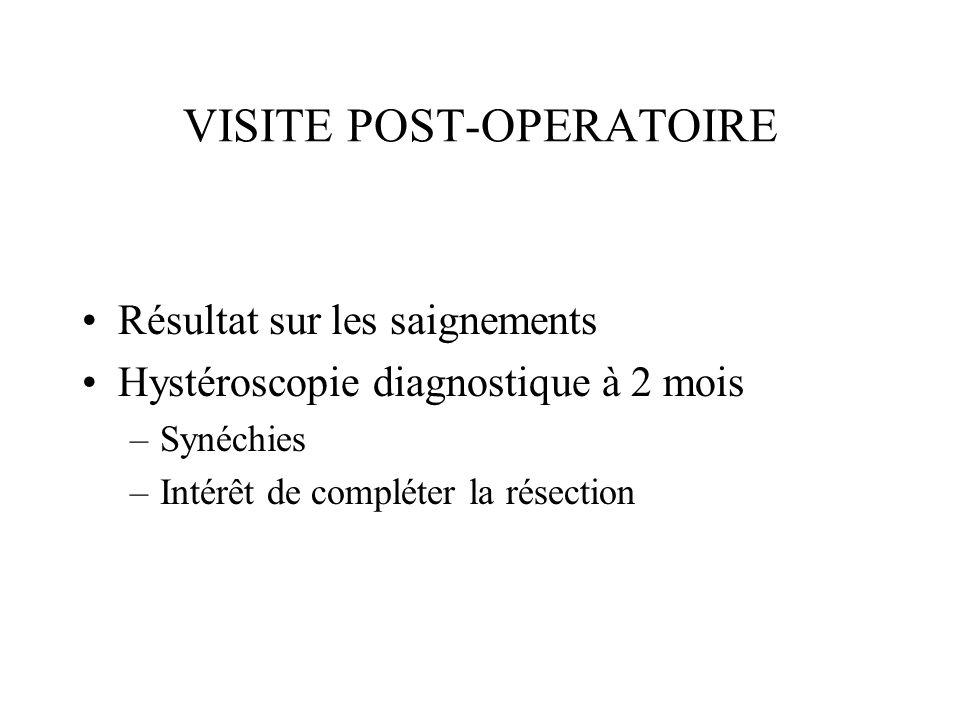 VISITE POST-OPERATOIRE