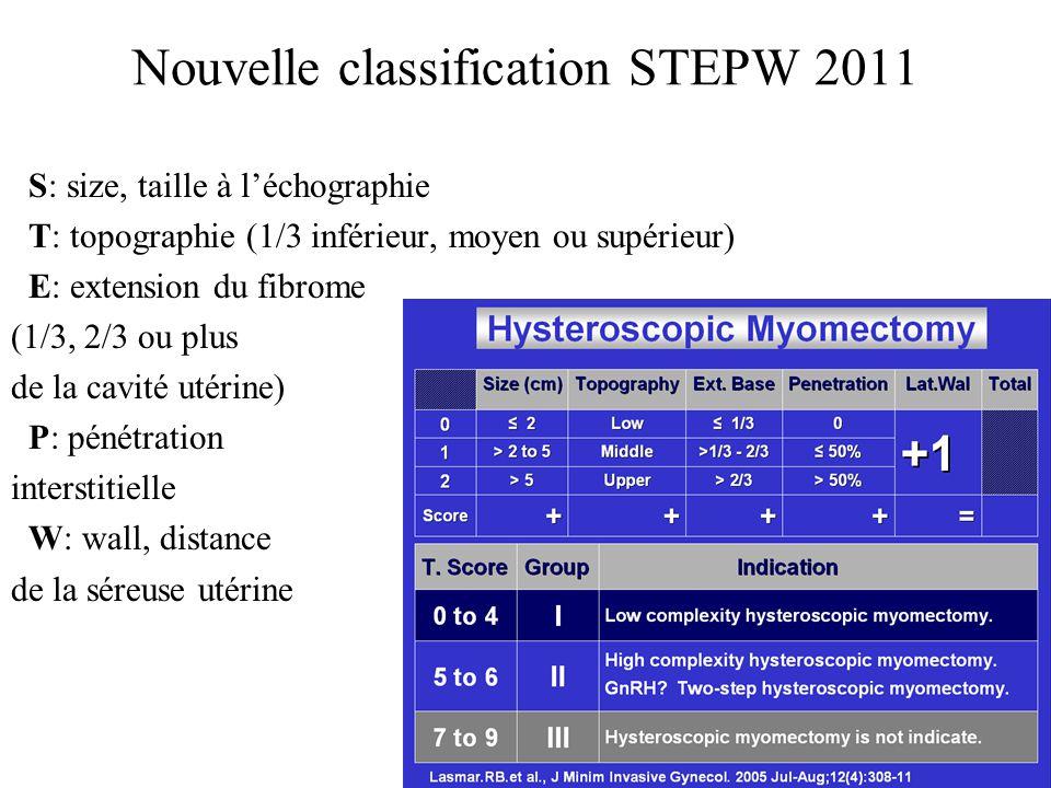 Nouvelle classification STEPW 2011