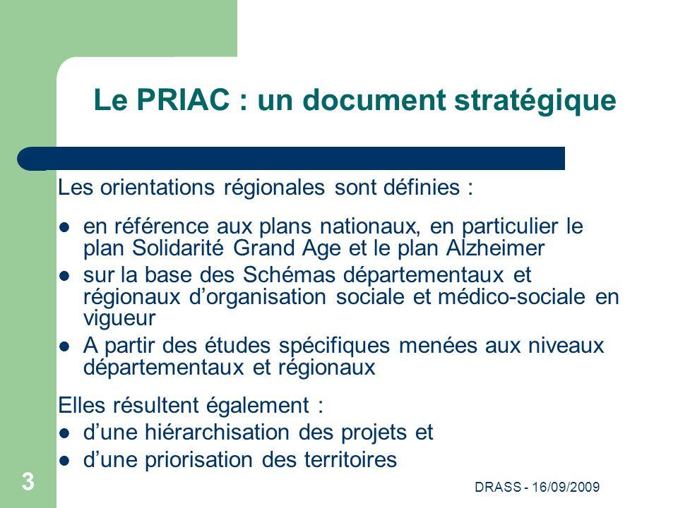 Le PRIAC : un document stratégique