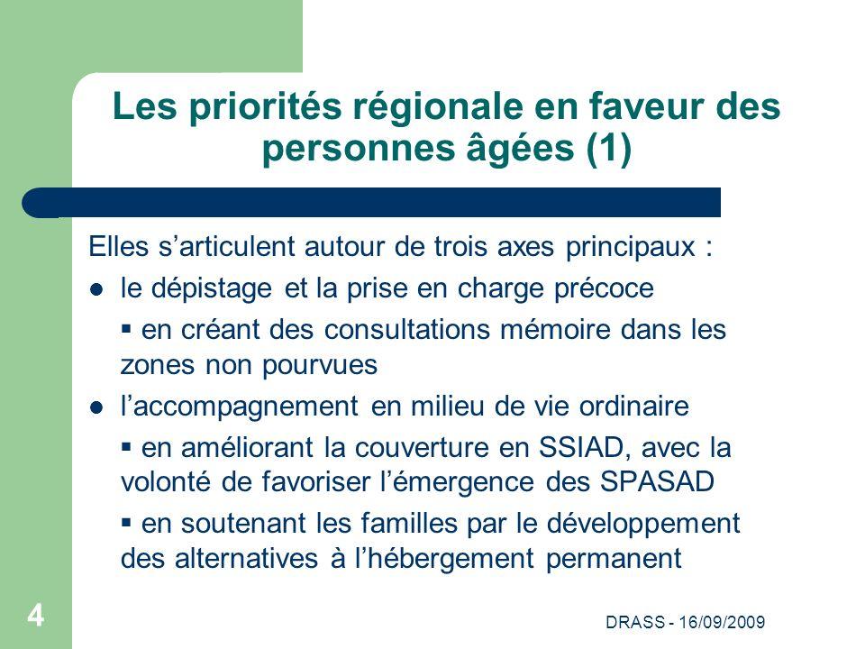 Les priorités régionale en faveur des personnes âgées (1)