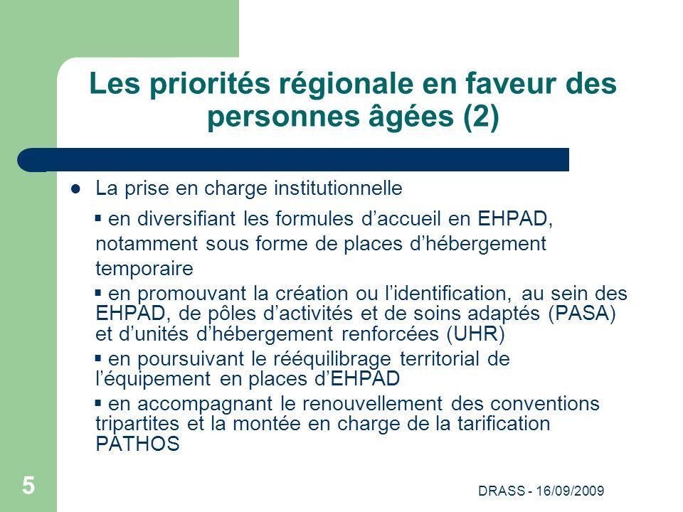 Les priorités régionale en faveur des personnes âgées (2)