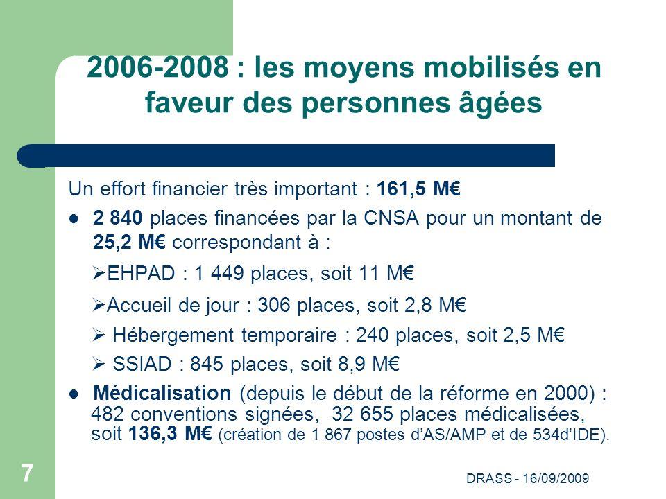 2006-2008 : les moyens mobilisés en faveur des personnes âgées