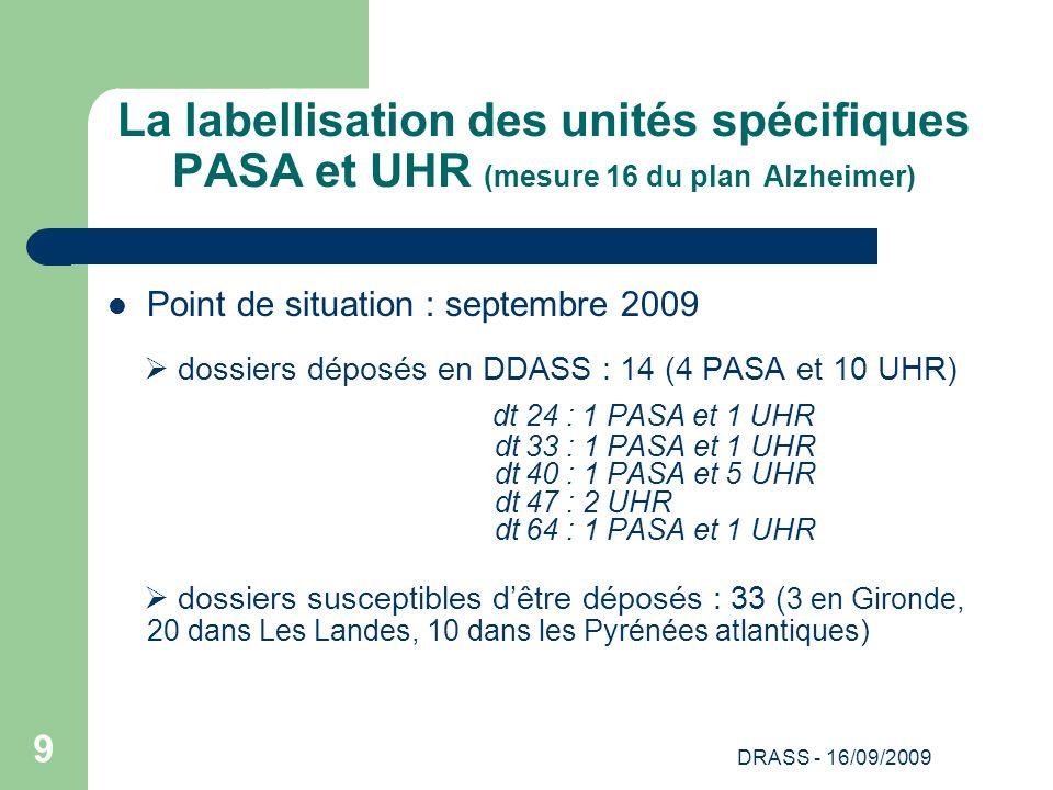La labellisation des unités spécifiques PASA et UHR (mesure 16 du plan Alzheimer)