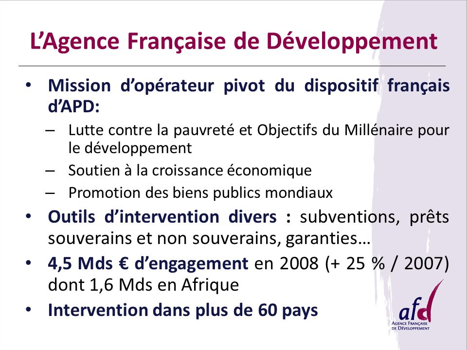 L'Agence Française de Développement