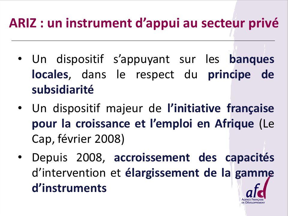 ARIZ : un instrument d'appui au secteur privé