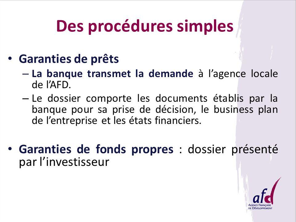 Des procédures simples