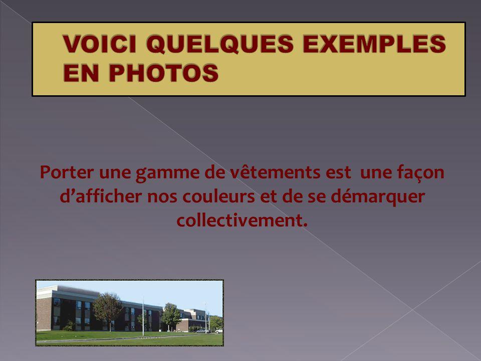 QUELQUES EXEMPLES VOICI QUELQUES EXEMPLES EN PHOTOS