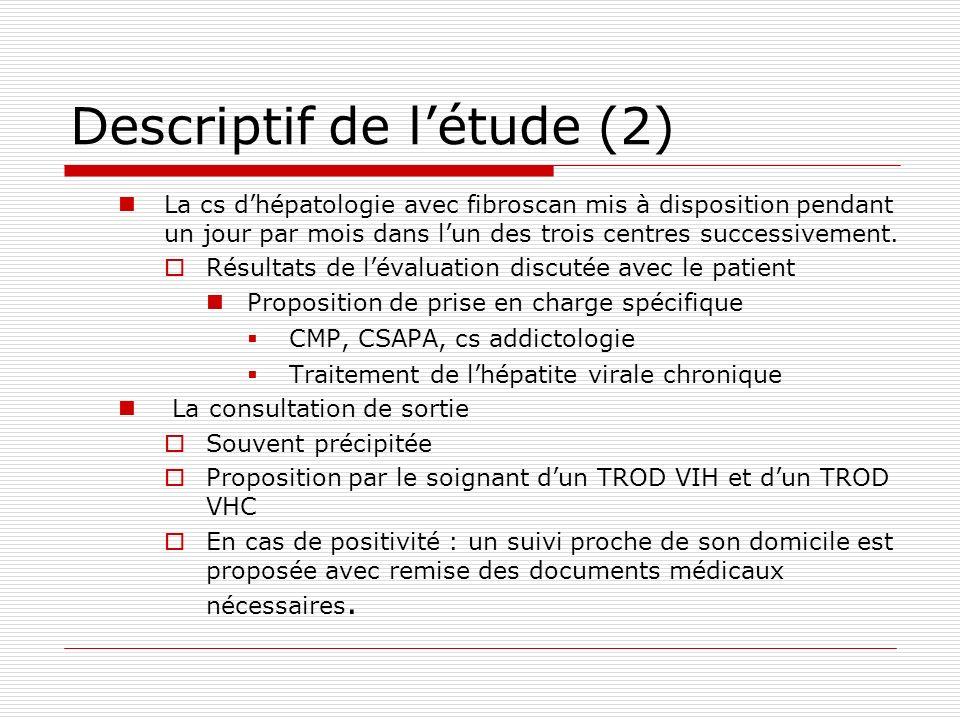 Descriptif de l'étude (2)