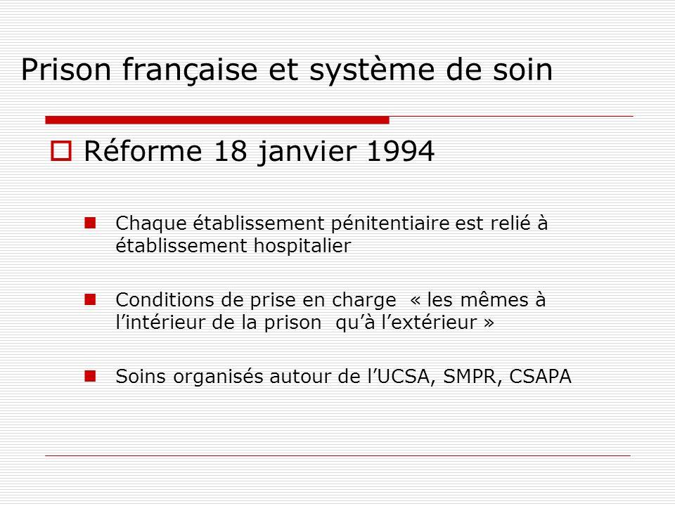 Prison française et système de soin