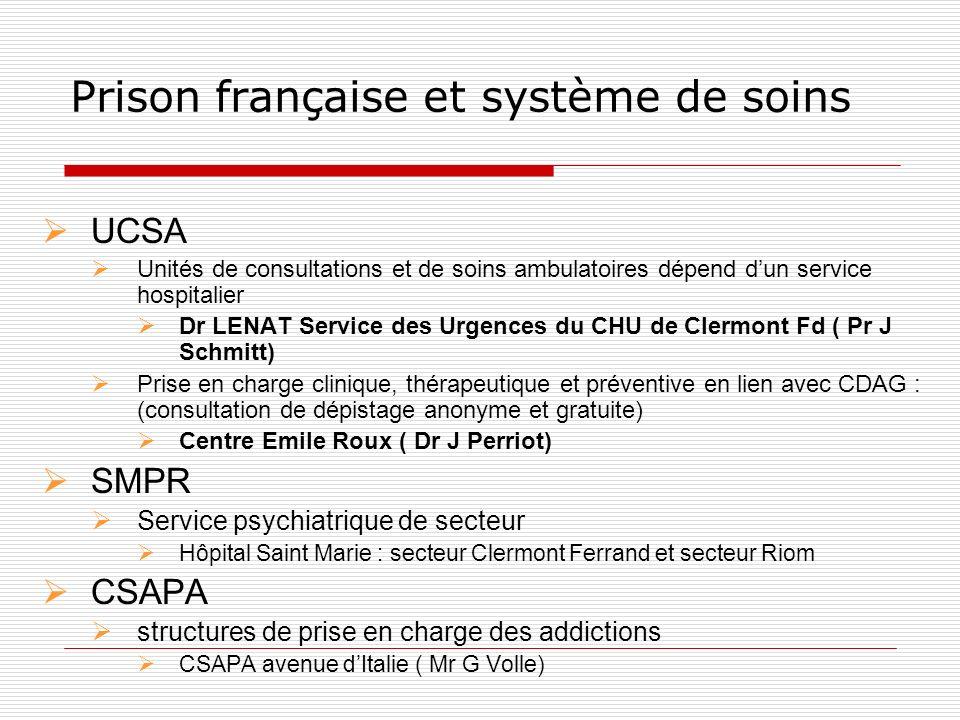 Prison française et système de soins