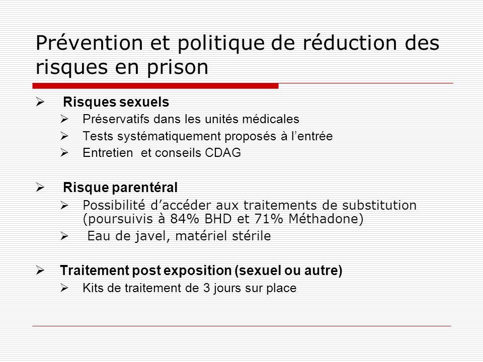 Prévention et politique de réduction des risques en prison