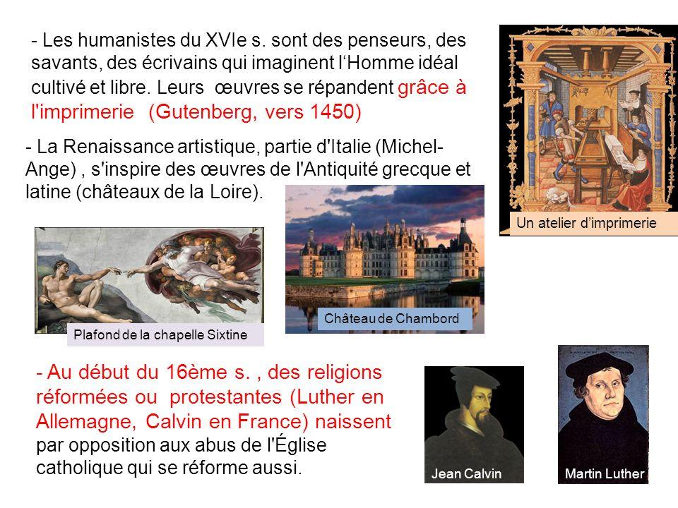 - Les humanistes du XVIe s