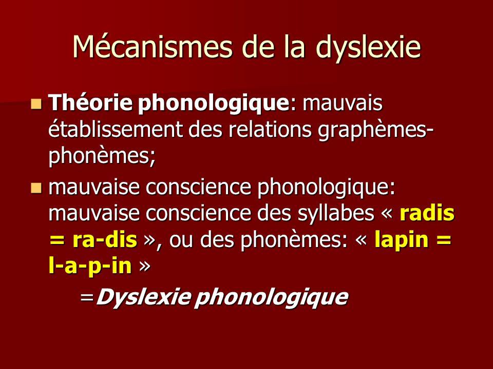 Mécanismes de la dyslexie