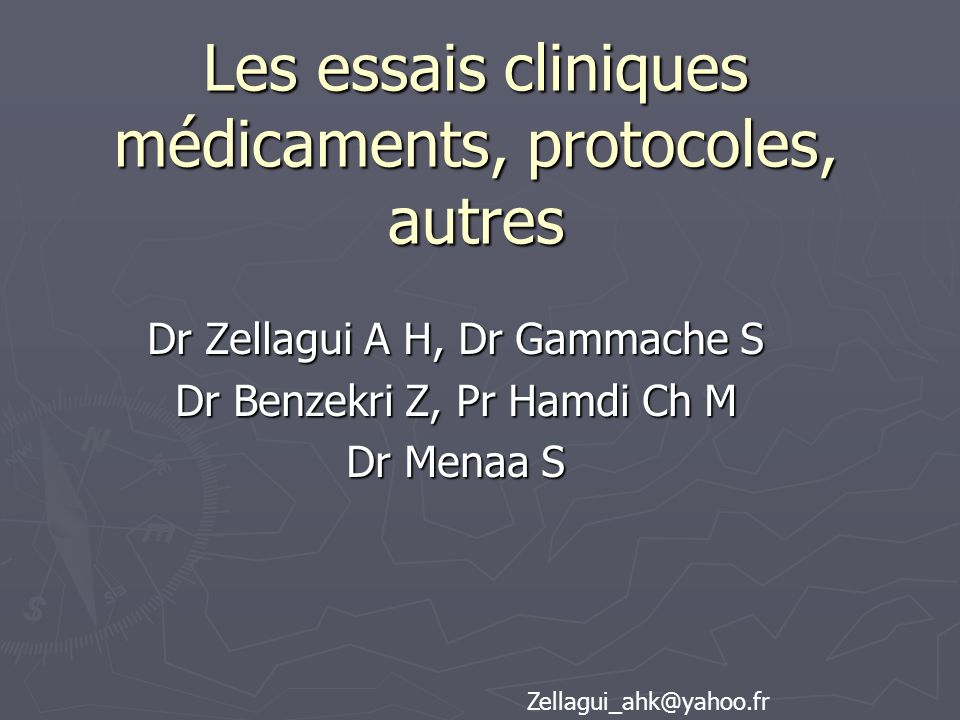 Les essais cliniques médicaments, protocoles, autres