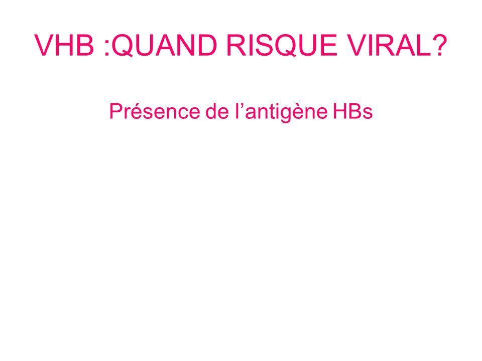 VHB :QUAND RISQUE VIRAL