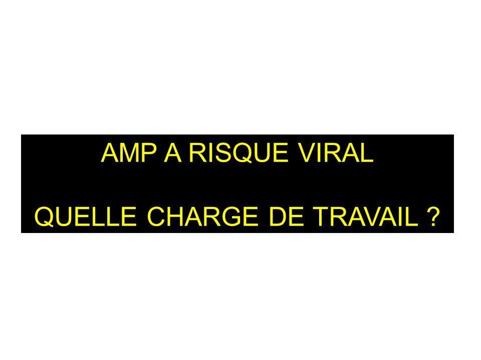 AMP A RISQUE VIRAL QUELLE CHARGE DE TRAVAIL