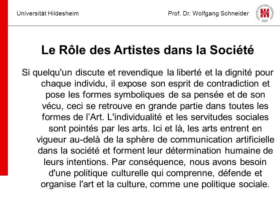 Le Rôle des Artistes dans la Société