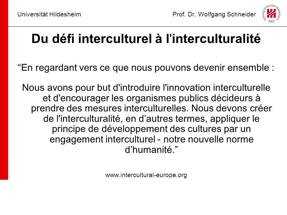 Universität Hildesheim Prof. Dr. Wolfgang Schneider