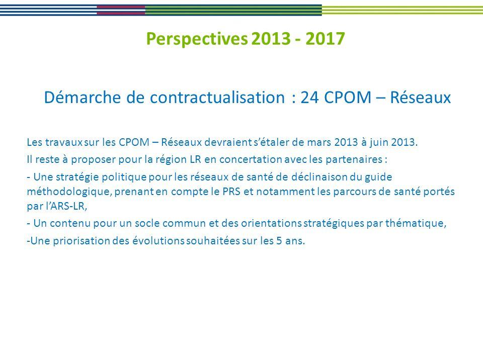 Démarche de contractualisation : 24 CPOM – Réseaux