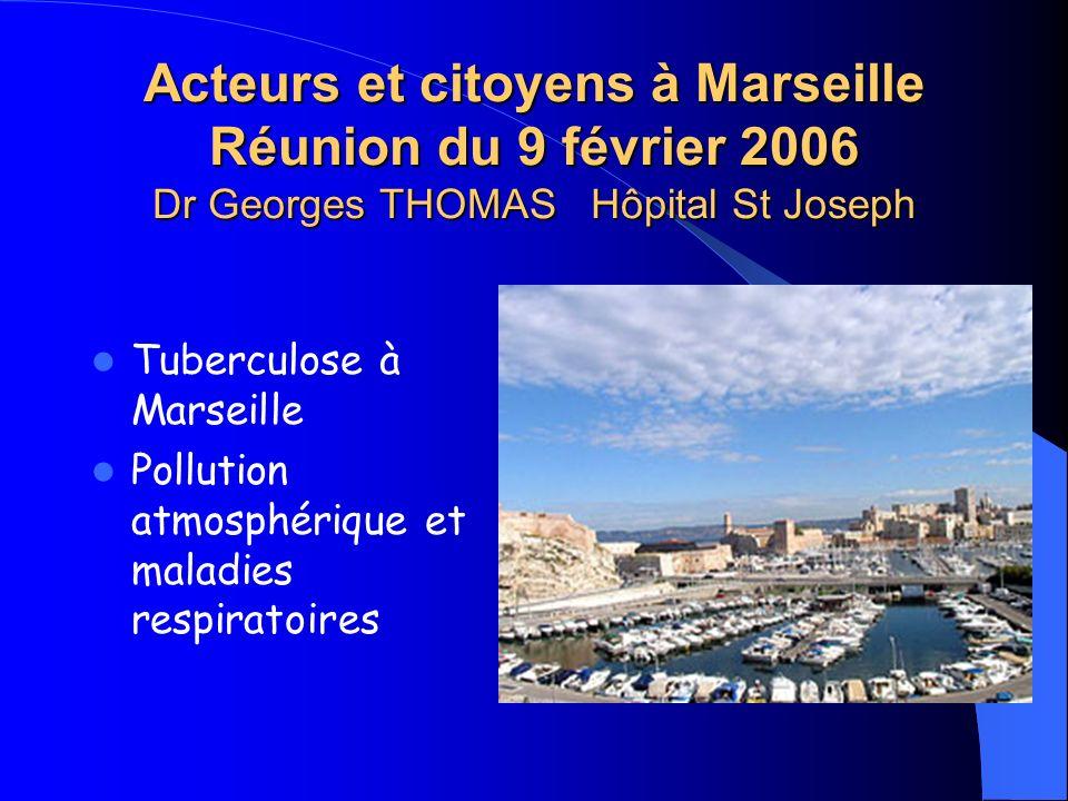 Acteurs et citoyens à Marseille Réunion du 9 février 2006 Dr Georges THOMAS Hôpital St Joseph
