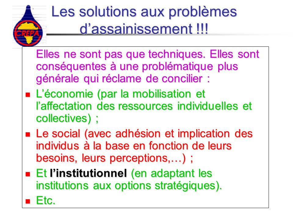 Les solutions aux problèmes d'assainissement !!!